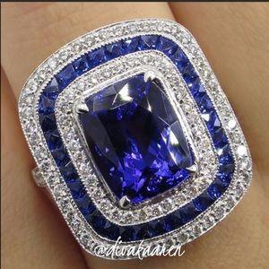 Jewelry - ♥️💕Gorgeous Art Deco Blue Sapphire Ring